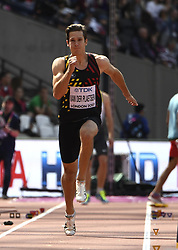 August 11, 2017 - Londres, Angleterre - LONDON , UNITED KINGDOM  - AUGUST 11 : Thomas Van Der Plaetsen of Belgium '' Decathlon''  pictured during long jump at the16th IAAF World Athletics championships from august 4 till 13, 2017 in London ,United Kingdom, 11/08/2017 (Credit Image: © Panoramic via ZUMA Press)