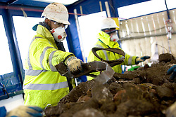 VeloPark. Workers operating the complex sort machine which sorts materials for recycling. Picture by David Poultney.