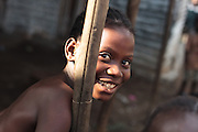 Portrait of a girl in the Clara Town slum of Monrovia, Montserrado county, Liberia on Thursday April 5, 2012.