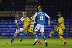 Mark Beevers of Peterborough United is fouled by Sam Hughes of Burton Albion for a penalty - Mandatory by-line: Joe Dent/JMP - 27/10/2020 - FOOTBALL - Weston Homes Stadium - Peterborough, England - Peterborough United v Burton Albion - Sky Bet League One