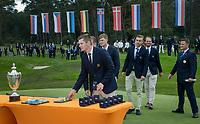 HILVERSUM - team Sweden  during prizegiving.     ELTK Golf 2020 The Dutch Golf Federation (NGF), The European Golf Federation (EGA) and the Hilversumsche Golf Club will organize Team European Championships for men.  COPYRIGHT KOEN SUYK