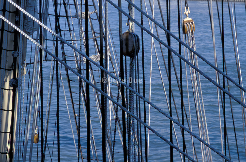 ship rigging and mast lines