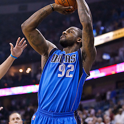 November 17, 2010; New Orleans, LA, USA; Dallas Mavericks shooting guard DeShawn Stevenson (92) shoots against the New Orleans Hornets during the first quarter at the New Orleans Arena. Mandatory Credit: Derick E. Hingle