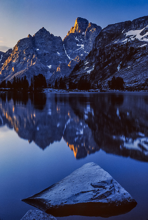 Lake Solitude, morning light, August, Grand Teton National Park, Wyoming, USA