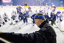 Nik Zupancic, head coach of Slovenia during practice session of Team Slovenia at the 2017 IIHF Men's World Championship, on May 8, 2017 in Accorhotels Arena in Paris, France. Photo by Vid Ponikvar / Sportida