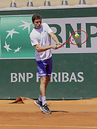 Gilles SIMON (FRA) during practice ahead of the Roland-Garros 2021, Grand Slam tennis tournament, Qualifying, on May 29, 2021 at Roland-Garros stadium in Paris, France - Photo Nicol Knightman / ProSportsImages / DPPI