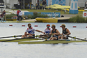 Eton Dorney, Windsor, Great Britain,<br /> <br /> 2012 London Olympic Regatta, Dorney Lake. Eton Rowing Centre, Berkshire.  Dorney Lake.   <br /> <br /> Final, Men's Pair GBR M2- Bow George NASH and Will SATCH and NZL M2-, Bow Eric MURRAY and Hamish BOND<br /> <br />  11:56:44  {DOW]  {DATE}    [Mandatory Credit: Peter Spurrier/Intersport Images]