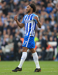 """Brighton & Hove Albion's Izzy Brown during the Premier League match at the AMEX Stadium, Brighton. PRESS ASSOCIATION Photo. Picture date: Sunday October 15, 2017. See PA story SOCCER Brighton. Photo credit should read: Gareth Fuller/PA Wire. RESTRICTIONS: EDITORIAL USE ONLY No use with unauthorised audio, video, data, fixture lists, club/league logos or """"live"""" services. Online in-match use limited to 75 images, no video emulation. No use in betting, games or single club/league/player publications."""