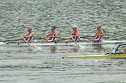 2002 FISA World Cup. Hazewinkel. BEL.       Friday  14/06/2002     .email images@Intersport-images.com.[Mandatory Credit: Peter Spurrier/Intersport Images]  .                                 /06/2002.Rowing    .DEN LM4-. Thomas EBERT (b) , Thor KRISTENSEN (2) , Soeren MADSEN (3) , Eskild EBBESEN (s) Rowing, FISA WC.Hazenwinkel, BEL