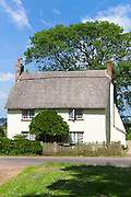 Typical quaint country cottage home at Powderham in South Devon, England, UK