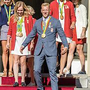 NLD/Den Haag/20160824 - Huldiging sporters Rio 2016, Ferry Weertman, Ilse Paulis en