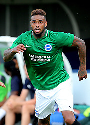 """Brightons Jurgen Locadia during a pre season friendly match at The Cherry Red Records Stadium, Kingston Upon Thames. PRESS ASSOCIATION Photo. Picture date: Saturday July 21, 2018. Photo credit should read: Mark Kerton/PA Wire. EDITORIAL USE ONLY No use with unauthorised audio, video, data, fixture lists, club/league logos or """"live"""" services. Online in-match use limited to 75 images, no video emulation. No use in betting, games or single club/league/player publications."""