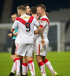 Airdrie's Iain Russell celebrates after scoring their goal. Queen's Park 2 v 1 Airdrie, Scottish Football League Division One game played 7/1/2017 at Hampden.