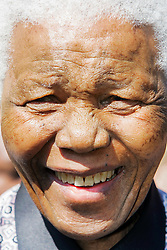 June 9, 2005 - Oslo Oslo, OO  Oslo, NORWAY Norway - 6 June 2005 Oslo, Norway: ..Nelson Mandela, 1993 Nobel Peace Prize laureate,  at the opening of the  Nobel Peace Center, standing at the entrance to the museum. (Credit Image: © Rob Schoenbaum/ZUMA Wire/ZUMAPRESS.com)