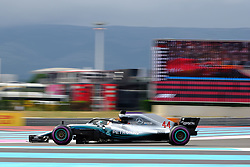 June 23, 2018 - Le Castellet, Var, France - Mercedes 44 Driver LEWIS HAMILTON (GBR) took the best time of the qualifying session from 1:30.029 during the Formula one French Grand Prix at the Paul Ricard circuit at Le Castellet - France (Credit Image: © Pierre Stevenin via ZUMA Wire)