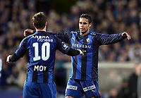 Fotball , 26. oktober 2008 , Tippeligaen , Eliteserien , Stabæk - Vålerenga 4-2<br /> <br /> Daniel Nannskog og Veigar Pall Gunnarsson , Stabæk<br /> <br /> Stabæk seriemester