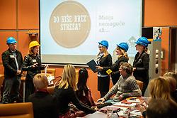 Ales Koscak, Gordana Radenovic, Karmen Vidmar, Marjeta Trobis, Stasa Krusic, Podjetniski zajtrk skupine BNI Mostovi, on April 24, 2019 in Ljubljana, Slovenia. Photo by Vid Ponikvar / Sportida