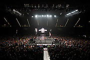 Austin Aries jumps off the rope onto Baron Corbin during NXT Takeover: Dallas on April 1, 2016 in Dallas, Texas.