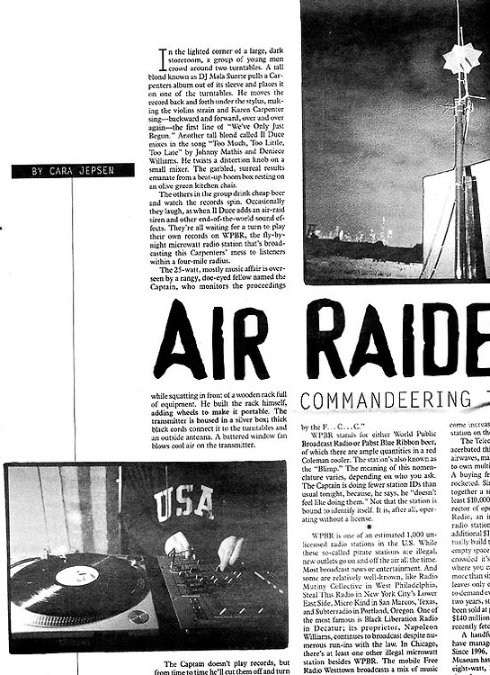 Chicago Reader - Pirate Radio Story!