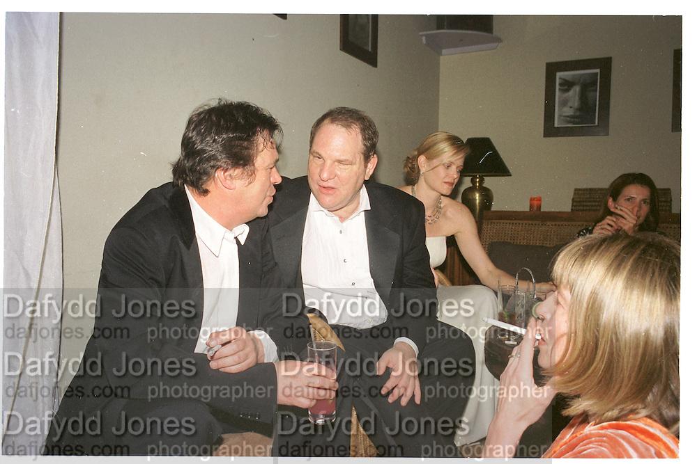 Harvey Weinstein. Miramax post Bafta's party. Noble Rot. 9 April 2000. © Copyright Photograph by Dafydd Jones 66 Stockwell Park Rd. London SW9 0DA Tel 020 7733 0108 www.dafjones.com