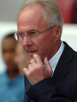 Photo: Tony Oudot. <br /> West Ham United v Manchester City. Barclays Premiership. 11/08/2007. <br /> Sven Goran Eriksson manager of Manchester City