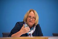 DEU, Deutschland, Germany, Berlin, 20.08.2018: Sabine Leutheuser-Schnarrenberger (FDP), Bundesministerin a. D., in der Bundespressekonferenz zur Verfassungsbeschwerde gegen den Staatstrojaner.