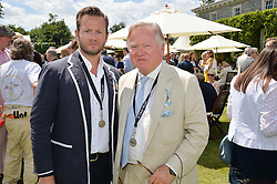 Left to right, the HON.GEORGE BAMFORD and his father LORD BAMFORD at the Cartier hosted Style et Lux at The Goodwood Festival of Speed at Goodwood House, West Sussex on 29th June 2014.