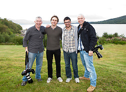 Two stars of the The Inbetweeners Movie, Joe Thomas and Simon Bird, at a press photo-call on Skye before a sold-out screening of the new film in the island's Gaelic college..© pic : Michael Schofield.