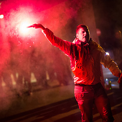 20140827: SLO, Football - Celebration of NK Maribor after qualifying for UEFA Champions League