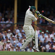 Ricky Ponting is out first ball during the Australia V Pakistan 2nd Cricket Test match at the Sydney Cricket Ground, Sydney, Australia, 3 January 2010. Photo Tim Clayton