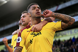 Burnley's Andre Gray celebrates coring his side's second goal during the Premier League match at Selhurst Park, London.