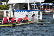 Henley-on-Thames. United Kingdom.  2017 Henley Royal Regatta, Henley Reach, River Thames. <br /> Oxford Brookes celebrate winning the Temple Challenge Cup.<br /> <br /> 12:31:23  Sunday  02/07/2017<br /> <br /> [Mandatory Credit. Intersport Images}.