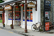 Oceania, New Zealand, Aotearoa, South Island, Otago, Arowtown, Pharmacy on main street