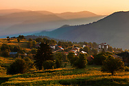 Small rhodopean village at sunrise