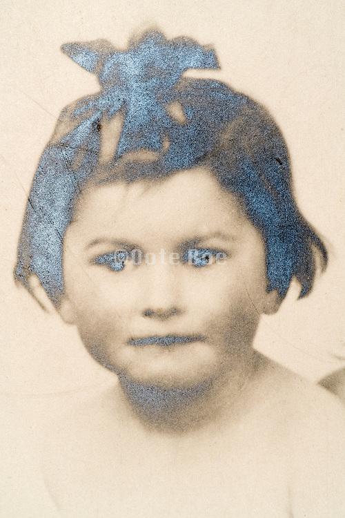 studio portrait of a little girl