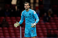 Luke Steele, the goalkeeper of Bristol City in action. The Emirates FA Cup, 3rd round match, Watford v Bristol City  at Vicarage Road in Watford, London on Saturday 6th January 2018.<br /> pic by Steffan Bowen, Andrew Orchard sports photography.