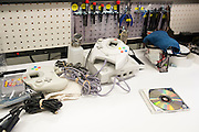 A Dreamcast console is bundled up for packaging after the refurbishment process at the GameStop retro classics console games refurbishment center in Grapevine, Texas on June 24, 2015. (Cooper Neill for Mashable)