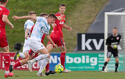 Frederik Juul Christensen (FC Helsingør) under kampen i 1. Division mellem FC Fredericia og FC Helsingør den 4. oktober 2020 på Monjasa Park i Fredericia (Foto: Claus Birch).