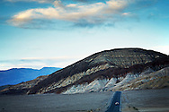 A colorful mountain view from the road in Death Valley National Park, California.