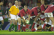 Leicester, Welford Road, Leicestershire, 30/09/2001,           Llanelli's scrum half - Guy Easterby,  Heineken Cup, match, Leicester Tigers vs Llanelli, Heineken Cup,<br /> [Mandatory Credit: Peter Spurrier/Intersport Images],<br /> Leicester Tigers v Llanelli Euro Cup  <br /> 29/9/01