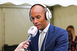 © Licensed to London News Pictures. 03/009/2019. London, UK. Chuka Umunna CHUKA UMUNNA MP for Streatham speaking with media in College Green<br /> MPs return to Westminster for a no deal  showdown that could result in a snap election. Photo credit: Dinendra Haria/LNP