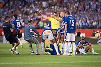 FC Barcelona's defender Javier Mascherano injured during Copa del Rey (King's Cup) Final between Deportivo Alaves and FC Barcelona at Vicente Calderon Stadium in Madrid, May 27, 2017. Spain.<br /> (ALTERPHOTOS/BorjaB.Hojas)