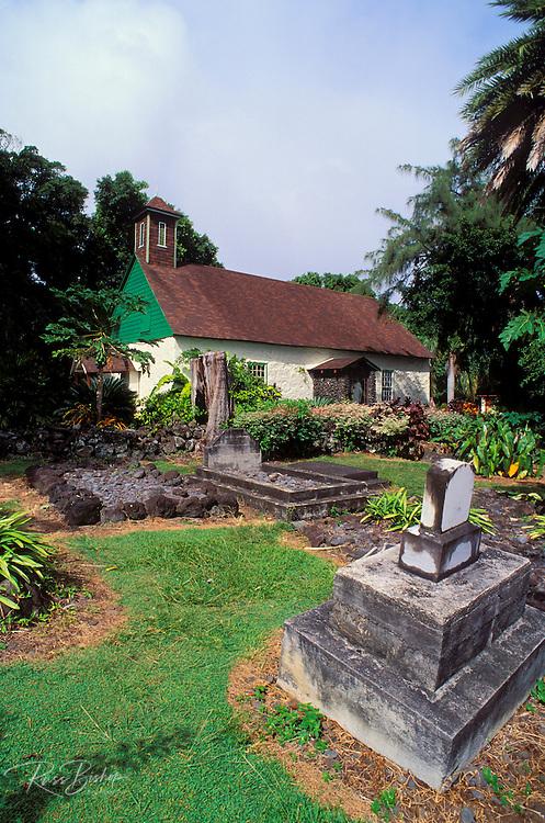 Congregational church and cemetery where Charles Lindbergh is buried, Kipahulu, Island of Maui, Hawaii