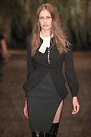 Nadja Bender walks down runway for F2012 Altuzarra's collection in Mercedes Benz fashion week in New York on Feb 10, 2012 NYC's