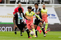 Manchester City's David Silva battles with Newcastle United's Isaac Hayden and Danny Rose <br /> <br /> Photographer Alex Dodd/CameraSport<br /> <br /> FA Cup Quarter-Final - Newcastle United v Manchester City - Sunday 28th June 2020 - St James' Park - Newcastle<br />  <br /> World Copyright © 2020 CameraSport. All rights reserved. 43 Linden Ave. Countesthorpe. Leicester. England. LE8 5PG - Tel: +44 (0) 116 277 4147 - admin@camerasport.com - www.camerasport.com