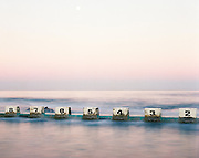 Full Moon over Merewether Baths, Merewether Beach, Newcastle, Australia,