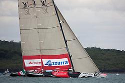 Artemis (SWE) versus Azzurra (ITA), petite-final. Auckland, New Zealand, March 20th 2010. Louis Vuitton Trophy  Auckland (8-21 March 2010) © Sander van der Borch / Artemis