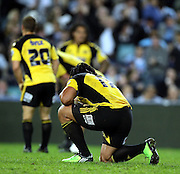 Ma'a Nonu dejected after the loss<br />Super 14 rugby union match, Waratahs vs Hurricanes, Sydney, Australia. <br />Saturday 14 May 2010. Photo: Paul Seiser/PHOTOSPORT