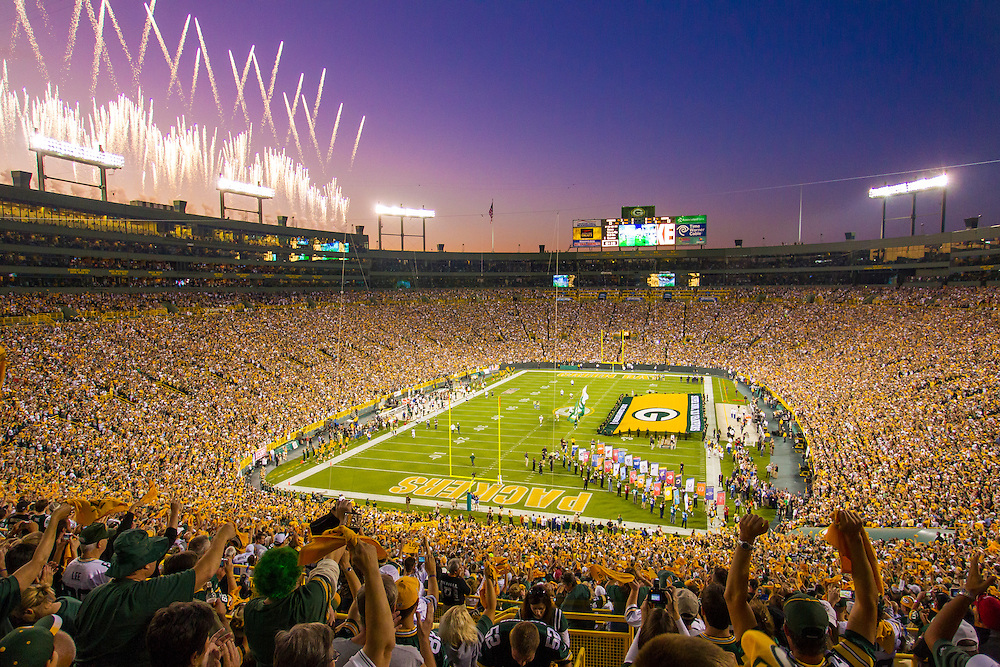 Lambeau Field during the National Anthem