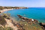 Paros, Greece - July 2021: Glifa Beach